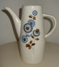 Vintage 60's Worcester PALISSY Atlanta Blue Flower Tall Pottery Jug