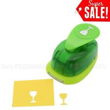 "5/8""inch Wine Glass Shape Paper Craft Lever Punch For Scrapbooking Cards Art"