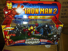 SUPER HERO SQUAD HI-TECH confronto Figure IRON MAN WAR MACHINE Drone 3 Pack