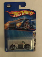 DODGE TOMAHAWK - Silver 2004 Hot Wheels Die Cast Motorcycle  - Mint on Card