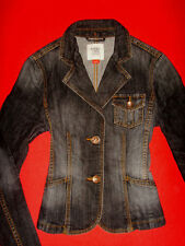 ESPRIT JEANS JACKE STRETCH BLACK DENIM S 34 36 NEU m. ETIKETT !!! TOP !!!