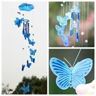 Blue Butterfly Wind Chime Bell Ornament Yard Garden Hanging Decor Art