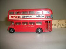"CORGI LONDON TRANSPORT ROUTEMASTER BUS,""CORGI TOYS""RED GREAT COND, NO BOX"