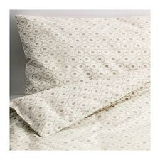 "Hjärtevän Crib Duvet Cover/Pillowcase, White, Beige, 43X49/14X22 "" New"