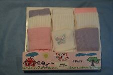 New 6 pr Girls/Kids Socks 0-6 Months…Mixed Colors