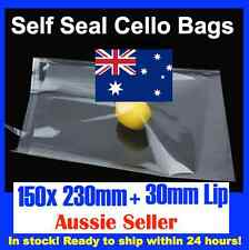 100 CELLOPHANE CELLO CLEAR BAGS - 150mm x 230mm