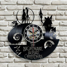 The Nightmare Before Christmas  Handmade Vinyl Record Modern Vintage  Wall Clock