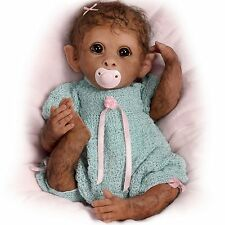 Ashton Drake Clementine Needs A Cuddle Baby Monkey Doll By Linda Murray