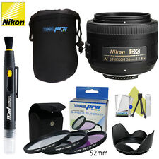 Nikon 35mm f/1.8G AF-S DX NIKKOR Lens for Nikon DSLR Cameras W/ I3ePro Bundle