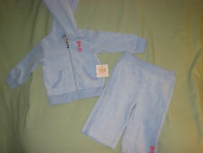 NEW 12 MONTH JUICY COUTURE INFANT VELOUR TRACK SUIT PURPLE PINK LOGO