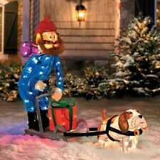 "42"" Yukon Cornelius Dog Sleigh Scene Christmas Decoration"