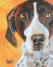 German Shorthaired Pointer Art Print Signed by artist Ron Krajewski 8x10