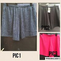 PLUS SIZE YOURS 100%POLYESTER ELASTICATED COMFY SHORTS 16-30/32