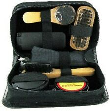 Sarome UK 7 Piece Shoe Shine Gift Set in Black Leather Pouch SHO2
