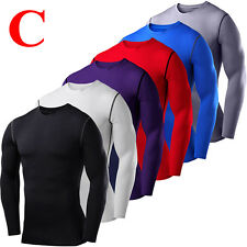 Men Under Base Layer Tight Armour Compression Shirt Shorts Running Jogger Pants