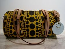 LOUIS VUITTON PAPILLON YAYOI KUSAMA PUMPKIN DOT YELLOW HANDBAG M91424~~NEW~~