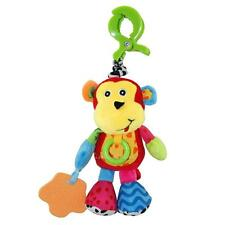 Cartoon Plush Monkey Toy With Clip Suitable For Kids Stroller Crib 0-2 Years Old