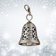 Glocke Dirndl 3D BIG Charm Bell Dirndl  silber Tracht Charivari Oktoberfest TE57