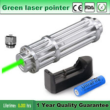 5mW Powerful High Power Green Laser Pointer Pen lazer Beam+18650 Battery+Charger