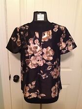 J.CREW COLLECTION SILK-WOOL TOP IN PAINTERLY FLORAL - SIZE 10 - SOLD OUT!!!