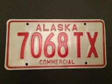 ALASKA AK 1977 LICENSE PLATE TAG COMMERCIAL 7068 TX