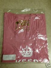 Womens Medium PINK KEEP CALM AND CHIVE ON shirt M GOLD LABEL Woman Women KCCO