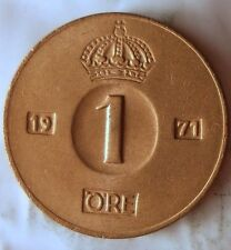 1971 SWEDEN ORE - UNCIRCULATED FROM ROLL - Full Luster - FREE SHIP - SWED BIN A
