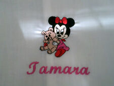 personalized embroidered minnie mouse or mickey mouse cot  pillow cases