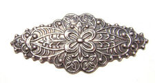 1556 Antiqued Brass Sterling Silver Diamond Stamping Centerpiece Component Charm