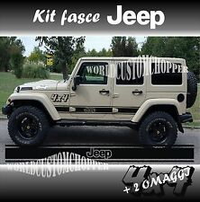 KIT ADESIVI STICKERS FASCE FUORISTRADA 4X4 JEEP OFF ROAD UNIVERSALI RUBICON