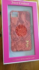 Juicy couture iPhone 4/4s cell phone case snake printed leather