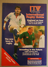 8 Page Guide with Details of England Squad for 1994 Tour of South Africa