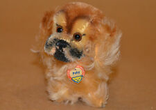 VINTAGE STEIFF PEKY DOG PUPPY PEKINESE 50's GERMANY #1310.00 FREE PRIORITY SHIP