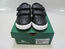 LACOSTE Boys TOURELLE CLC Black Synthetic Hook and Loop Sneakers US 8.5