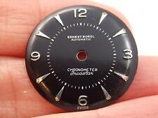 Black Ernest Borel Vintage Watch Dial Mens Automatic Chronometer Incastar NOS