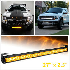 24 LED Emergency Car Truck Traffic Advisor Strobe Warning Light Light bar Amber