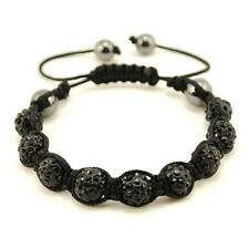 SHAMBALLA BEAD BRACELET 10mm Adjustable Crystal Pave Disco Ball Bling Hip Hop
