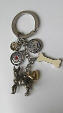 I LOVE MY DOG SILVER TONE KEY CHAIN w/6 CHARMS  SO CUTE  FREE SHIPPING