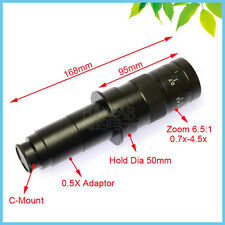 180X C-Mount Objective Lens Monocular Zoom Lens for Microscope & Digital Camera