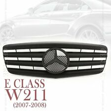 Matte Black Front Mesh Grille Sport AMG for Mercedes Benz E Class W211 2007-08