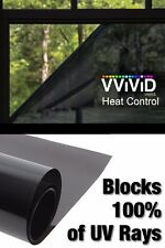 "100% UV Block Heat Control Window Tint Vinyl Wrap Dark Privacy Film 30"" x 10ft"