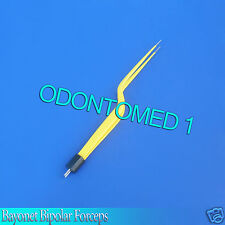 "Bayonet Bipolar Forceps 7.75"" Foot Activated Yellow Electrosurgical EL-029"