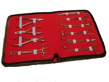 10 Pcs, Professional Body Piercing Tools Kit, Stainless Steel CE *NEW* Must Look