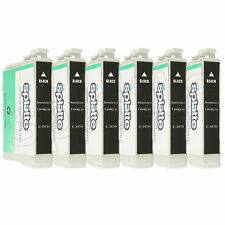 6 Remanufactured Black Ink Cartridges for Epson Stylus Photo R260 R280 / #78