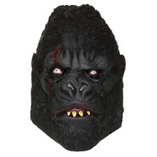 MENS ZOMBIE GORILLA APE MASK PLANET ANIMAL LATEX SCARY HALLOWEEN FANCY DRESS NEW