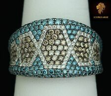 $ 11500 / Massive Certified Levian Ring / NEW / 2 CWT multi-color diamonds