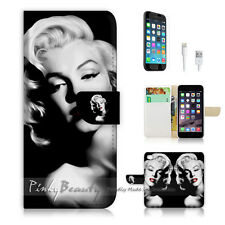 iPhone 7 (4.7') Flip Wallet Case Cover P0005 Marilyn Monroe