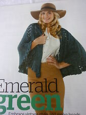 Knitting Pattern To Make A Very Pretty Cape In Aran Yarn-Knitted In 6 Triangles