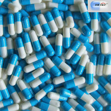 DR T&T 1000 Empty Gelatine gelatin blue / white  capsules size4 size 4
