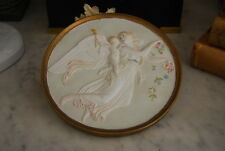WONDERFUL OLD B & G PARIAN HAND PAINTED ANGEL NEOCLASSICAL WALL CABINET PLAQUE 1